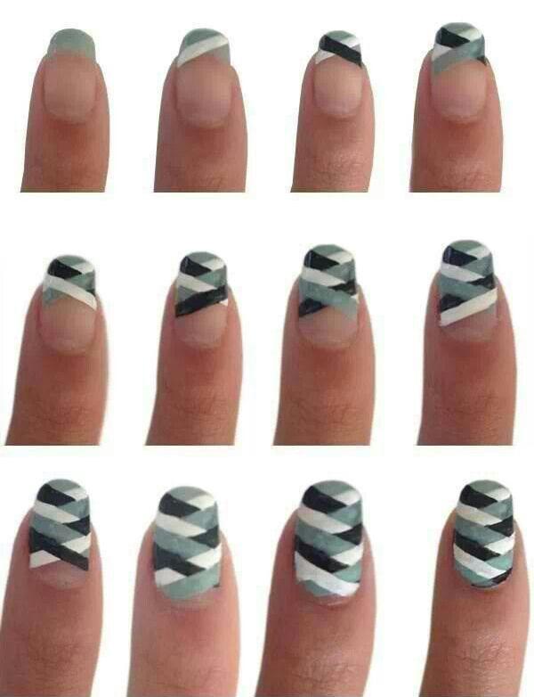 Идеи узоров на ногтях в домашних условиях