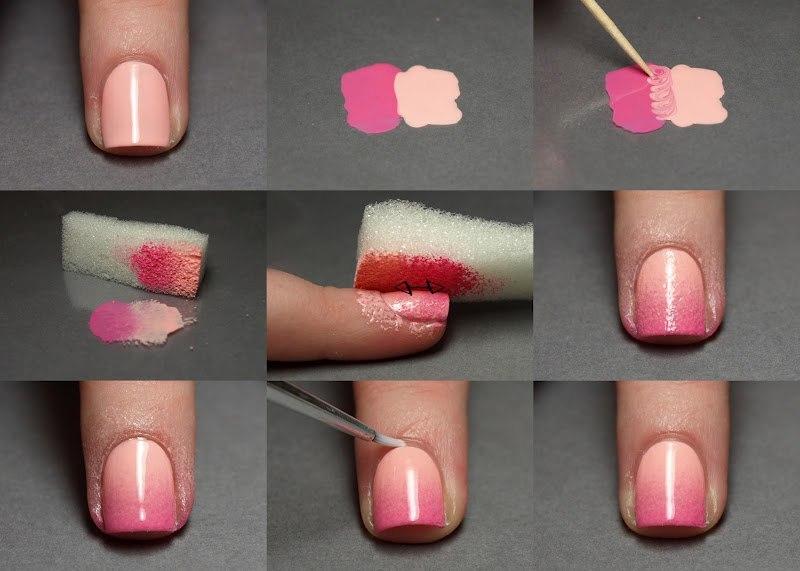 Как сделать самой себе ногти гель лаком 877