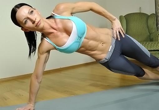 Упражнение для похудения ПБоковая планка