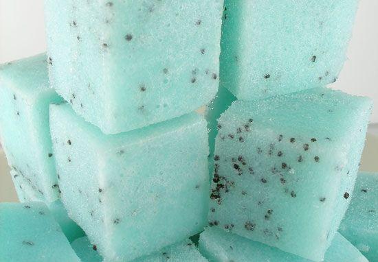 Как сделать кубики сахарного скраба