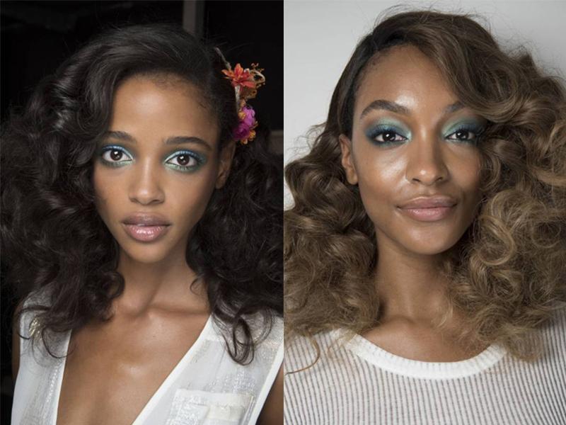 Ярко-синие тени - модный тренд весна-лето 2016