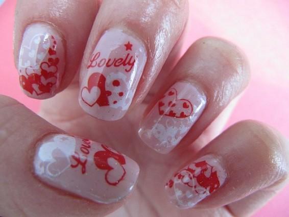 Наклейки для ногтей ко Дню влюбленных