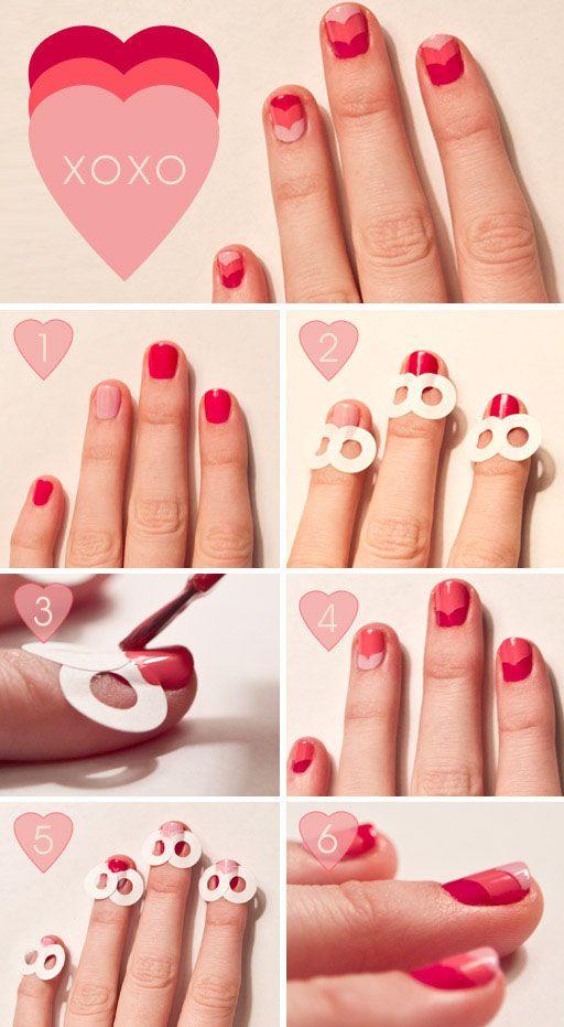 Как сделать сердечко на ногтях