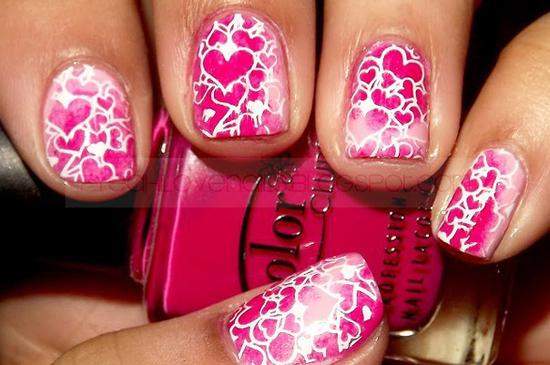 Наклейки для ногтей с сердечками