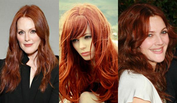 Рыжие оттенки волос 2016