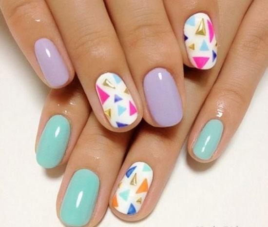 Красивые ногти шеллак на лето