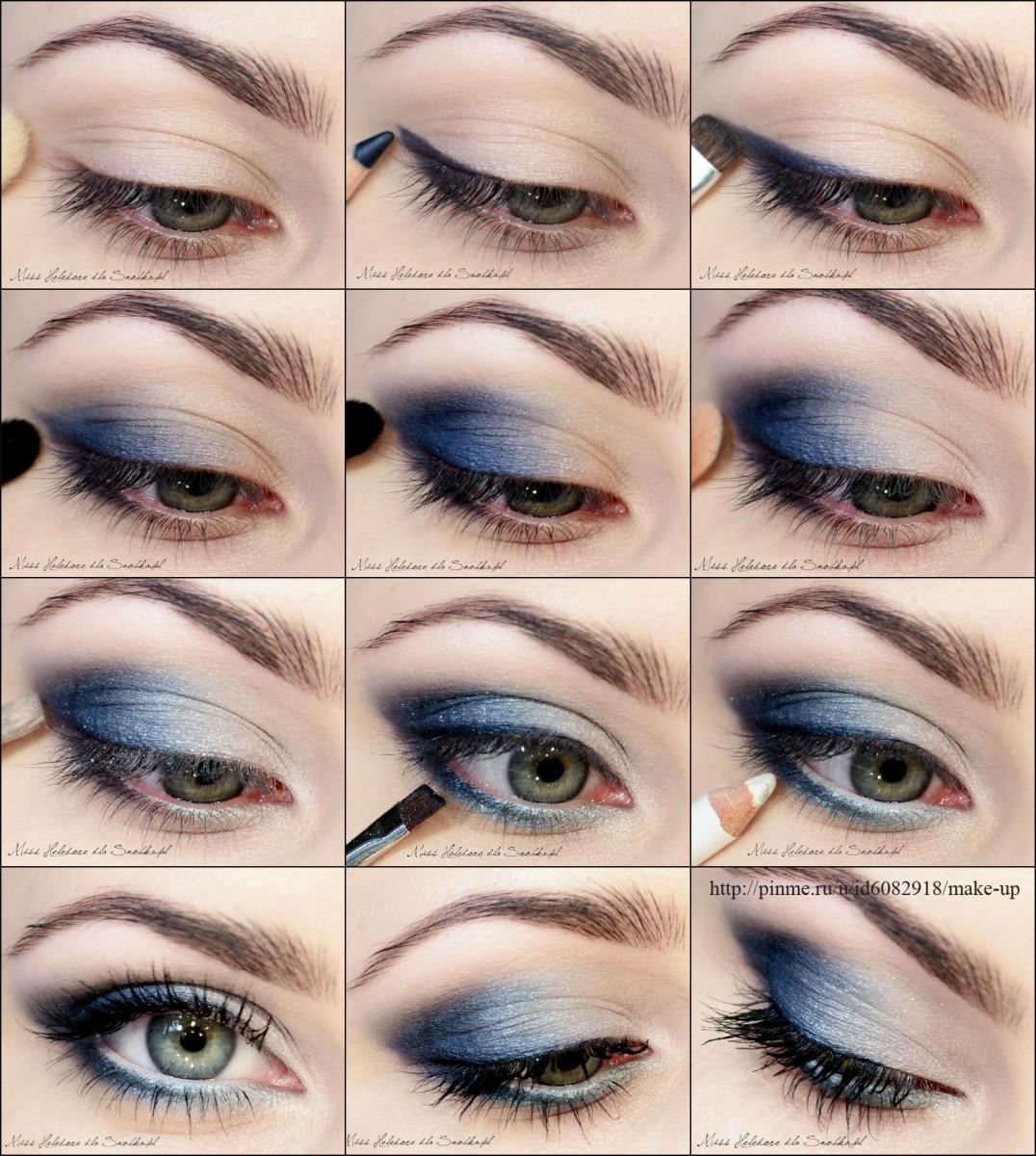 Как накрасится под синее платье