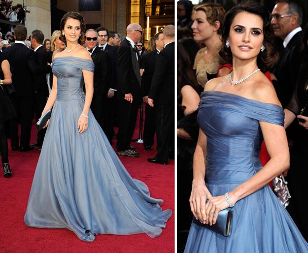 Пенелопа Круз в синем платье