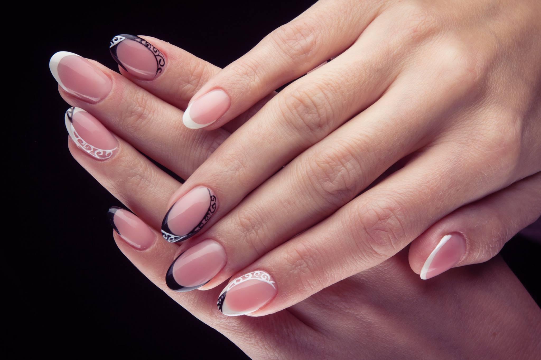 Форма ногтей френч фото гель