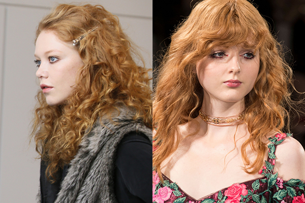 Рыжие кудрявые волосы 2018