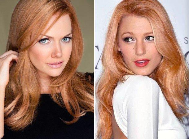 Цвет волос Клубничный блонд
