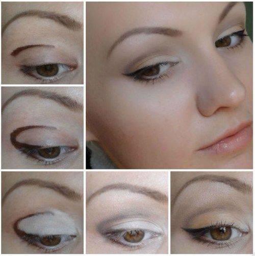Дневной макияж со стрелками для маленьких глаз