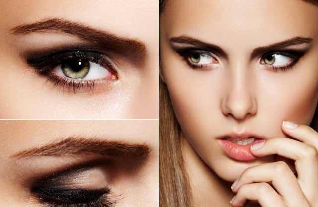 Вечерний макияж для маленьких глаз