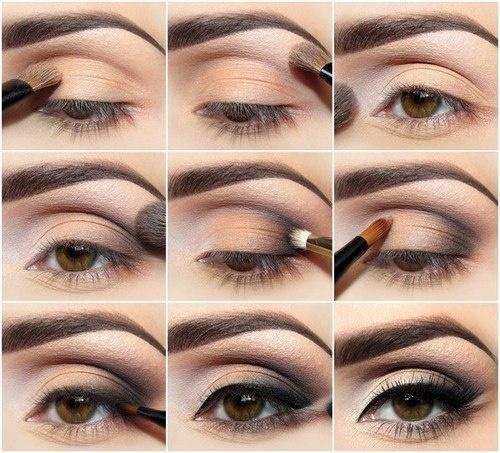 Вечерний макияж со стрелками для маленьких глаз