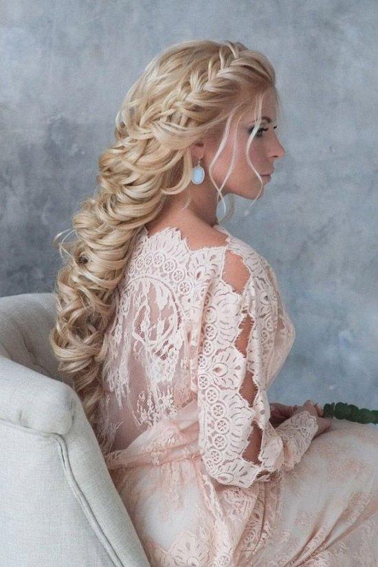 Крученая коса на свадьбу