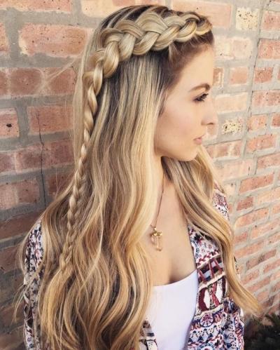 Плетения из волос под шапку