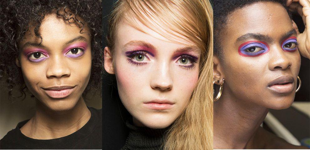 Розово-фиолетовый макияж глаз