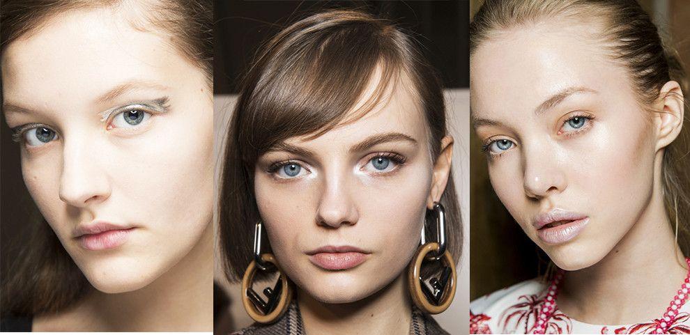 Серебряный макияж глаз