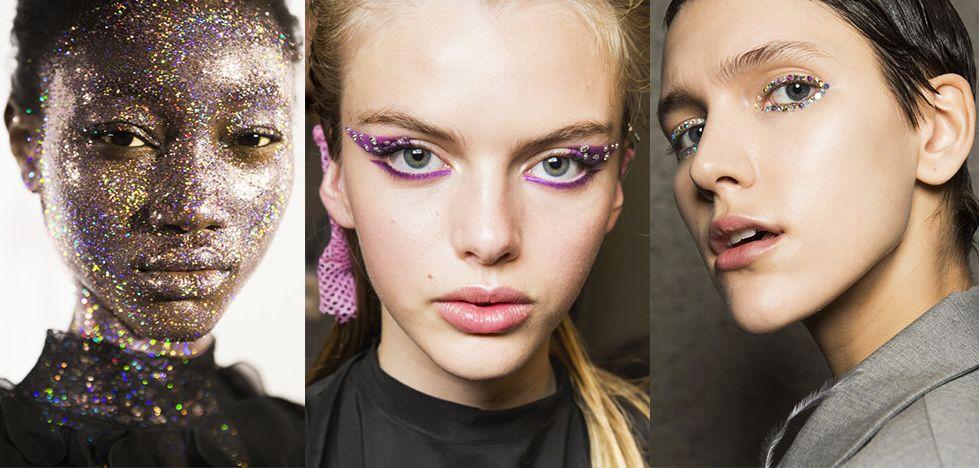 Модный макияж с блестками
