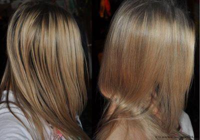 До и после использования сухого шампуня