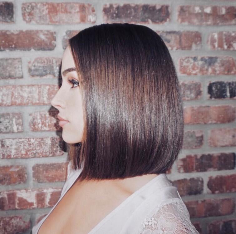Эффект glass hair