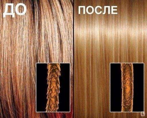 Эффект от экранирования волос