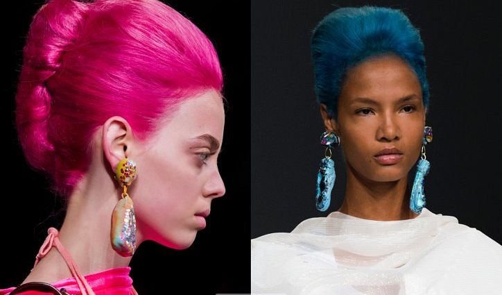 Яркий цвет волос 2019