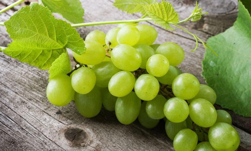 Гроздь белого винограда