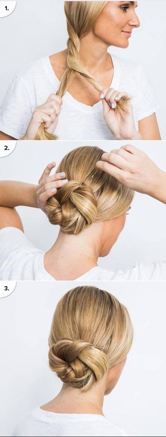 Как заплести пучок из волос