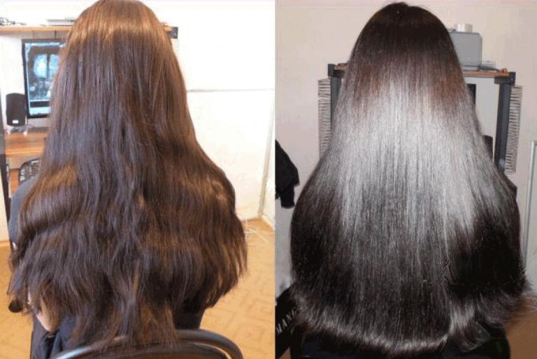 Экранирование волос: до и после