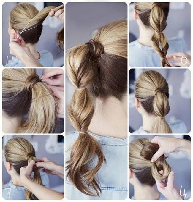 Как собрать волосы в хвост