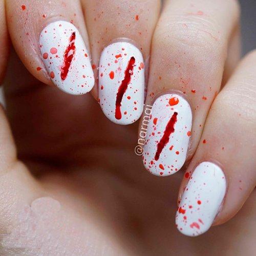 Маникюр с кровавыми порезами