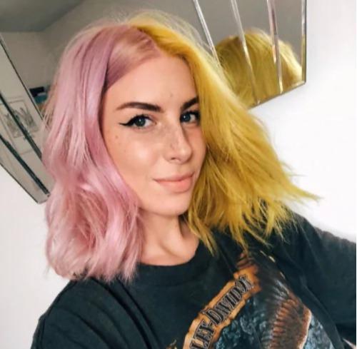 Двухцветное окрашивание волос лето 2020