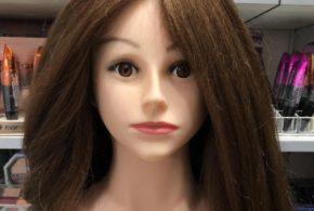 Голова манекена с натуральными волосами